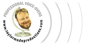Banner Logo Male voice talent -  voiceovers - Non Union voice talent - Radio Imaging - TV Imaging, Commercials, Narration.