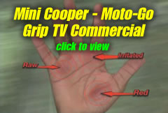 Watch the Mini Cooper TV commercial for the Moto-Go Grip.